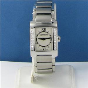 Montblanc 35740 Profile Diamond Bezel 0.45cts Watch EIF Limitd Edition New $4600