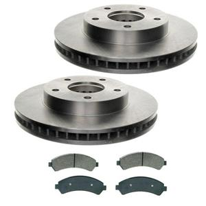 Blazer Jimmy Bravada S10 Pick 4x4 4WD 2 Frt 55047 Disc Brake Rotors Ceramic Pads