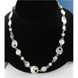 """Montblanc 101513 Star Collection Sterling Silver & Pearls 28"""" Necklace"""