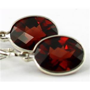SE101, Mozambique Garnet, 925 Sterling Silver Earrings