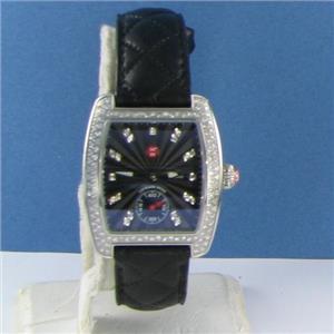 Michele Urban Mini Diamond Black Diamond Dial Black Quilted Watch MW02A01A2927