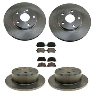 9/1999 to 2001  ES300 Frt & Rr Rotors & Ceramic Pads 31050 31075 CD707 CD835