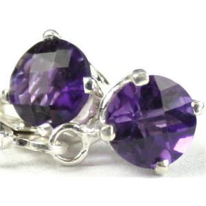 SE017, Amethyst, 925 Sterling Silver Earrings