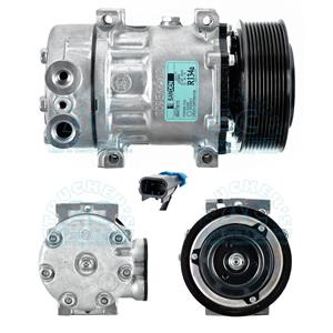 AC Compressor For Sanden 4384 Heavy Duty Peterbilt Kenworth 10 Grv R168503