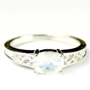 SR362, Rainbow Moonstone, 925 Sterling Silver Ladies Ring