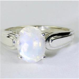 SR058, Rainbow Moonstone, 925 Sterling Silver