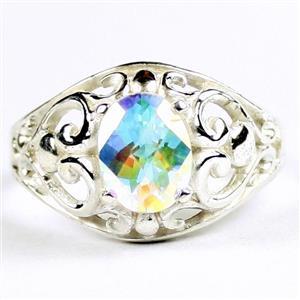 Mercury Mist Topaz, 925 Sterling Silver Ladies Ring, SR111