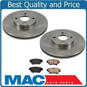 01 to 05 Mazda Miata MX-5 Sport Suspension (2) 10 5/8 Front Brake Rotors & Pads