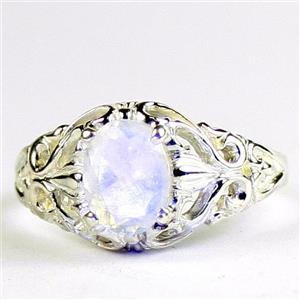 Rainbow Moonstone,  925 Sterling Silver Ladies Ring, SR113