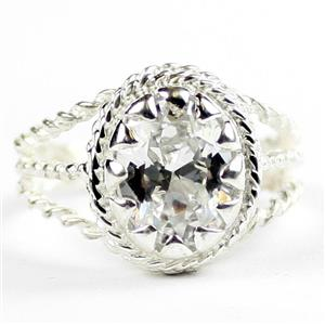 Cubic Zirconia, 925 Sterling Silver Ladies Ring, SR070