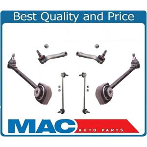 6 Pcs Chassis Kit Fits 08-15 C300 C350 E350 Front Lower Arms Tie Rods & Links