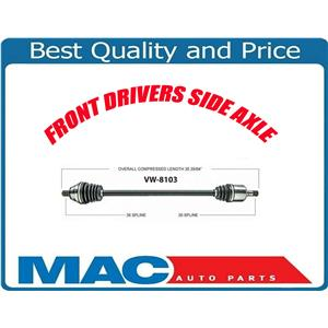 (1) 100% New Front Axle for For 09-13 Tiguan Front Wheel Drive Automatic Only