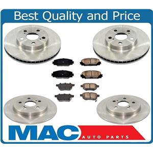 Front & Rear Rear Disc Brake Rotors & Ceramic Brake Pads for 09-15 Prius