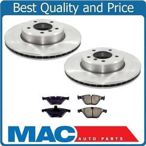 100% New Front Disc Brake Rotors & Ceramic Brake Pads for Bmw 530i 2004-2007