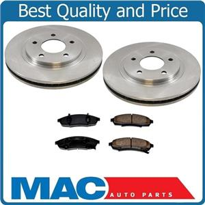 Front Disc Brake Brake Rotors With CD376 Ceramic Pads 95-99 Monte Carlo