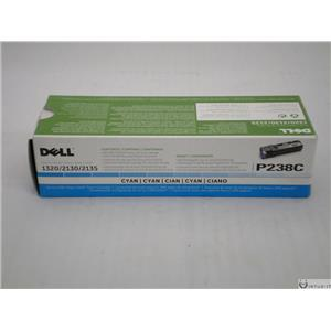 Brand New OEM Genuine Dell 1320c 2130 2135 Cyan Toner Cartridge P238C