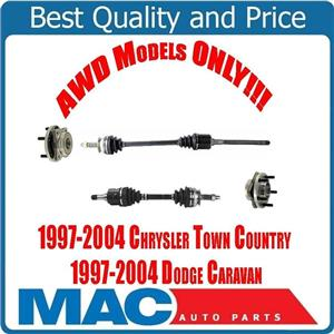 Front Axles & Wheel Hubs for All Wheel Drive Town Country & Grand Caravan 97-04
