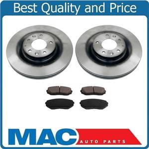 (2) FRONT Brake Rotors & Ceramic Pads 100% All New for Mazda CX-9 07-15