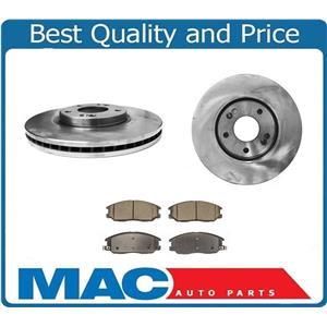 (2) Front Brake Rotors & Ceramic Pads Fits 04-06 Amanti 3.5L 04-05 XG350