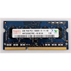Hynix 2GB PC3-10600 DDR3-1333 nonECC Unbuffered SODIMM 1.5V HMT325S6CFR8C-H9