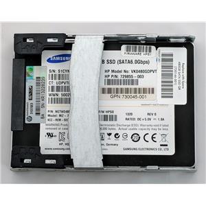 """Samsung HP 480GB SSD 2.5""""  SATA III 6Gbps 729855-003 MZ7WD480HAGM-000H3"""