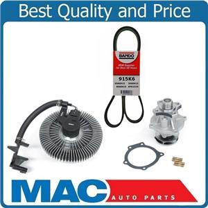 100% All New For 02-09 TRAILBLAZER New Electronic Fan Clutch Water Pump Eng Belt