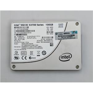 """Intel SSDSC2BA100G3P 100GB SATA 6Gb/s 2.5"""" SSD S3700 Series HP 637073-001"""