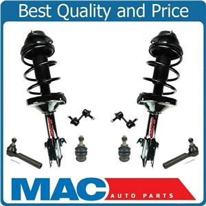 Front Struts Tie Rods Sway Bars Ball Joints for Subaru Forester W/O Auto Level