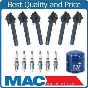 (6) 100% New Ignition Coils + Platinum Plugs For 99-05 300M 04-06 Pacifica 3.5L