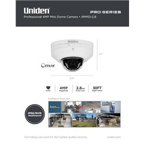 4MP Pro Series 4.0-Megapixel IP Security Mini Dome Camera 30' Night Vision