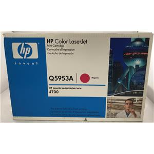 New HP Q5953A 643A Magenta Laser Toner Cartridge OEM LaserJet 4700