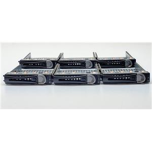 """Lot of 6 Dell PowerEdge C6220 C6100 2.5"""" Hard Drive Tray Caddy 7JC8P D273R"""