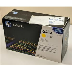 New HP 641A LaserJet C9722A 4600 4610 4650 Yellow Toner Cartridge Box Damage