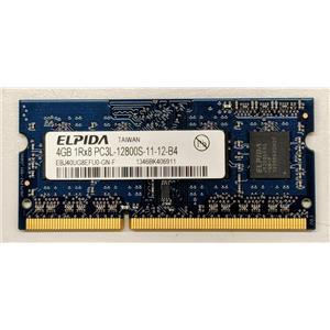 Elpida 4GB PC3-12800 DDR3-1600 non-ECC Unbuffered Laptop RAM EBJ40UG8EFU0-GN-F
