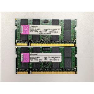 Lot of 2 Kingston 2GB PC2-6400 DDR2-800 non-ECC Unbuffered 1.8V KTD-INSP6000C/2G