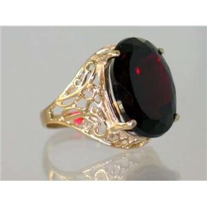 R291, Mozambique Garnet, Gold Ring