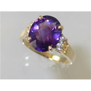 R123, Amethyst, Gold Ring
