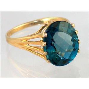 R280, London Blue Topaz, Gold Ring