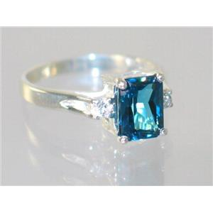 SR171, London Blue Topaz, 925 Sterling Silver Ring