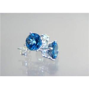 London Blue Topaz, 925 Sterling Silver Earrings, SE012