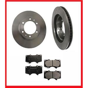 Front Brake 31327 Rotors & CD976 Ceramic Pads 12 35/64 320MM Diameter