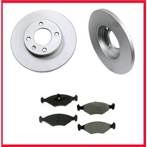 1987-1993  VW Fox (2) Front Brake Rotors and Pads