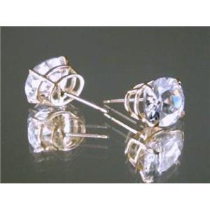 E102, Cubic Zirconia 14k Gold Earrings