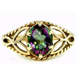 R137, Mystic Fire Topaz, Gold Ring