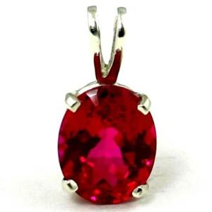 SP002, Created Ruby 925 Sterling Silver Pendant