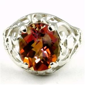 SR004, Twilight Fire Topaz, 925 Sterling Silver Ring