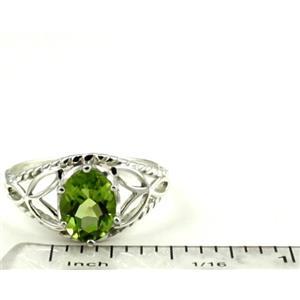 SR137, Peridot, 925 Sterling Silver Ring