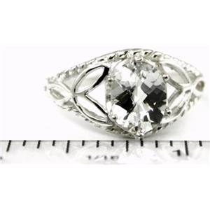 SR137, Silver Topaz, 925 Sterling Silver Ring