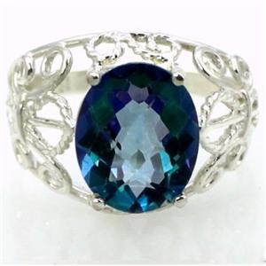 SR162, Neptune Garden Topaz, 925 Sterling Silver Ring