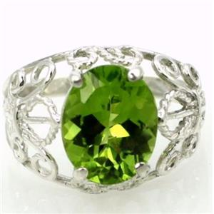 SR162, Peridot, 925 Sterling Silver Ring
